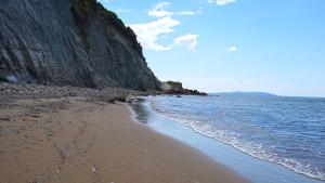 Einsamer Strand auf Korfu