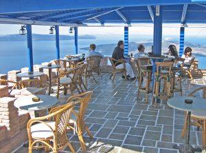 Griechisches Restaurant mit Ausblick