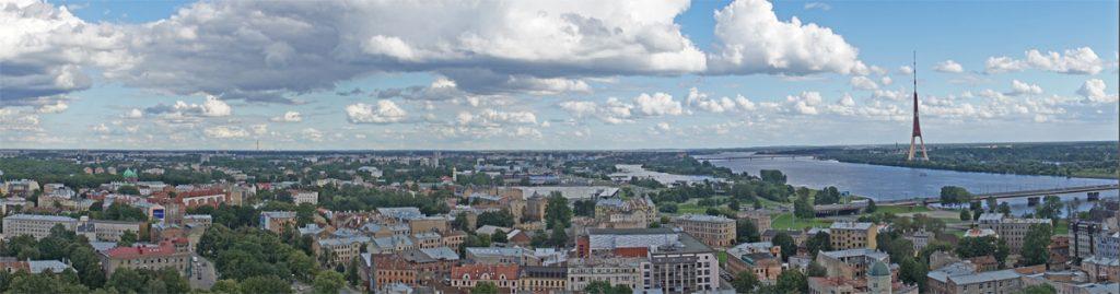 Skyline von Riga, Lettland