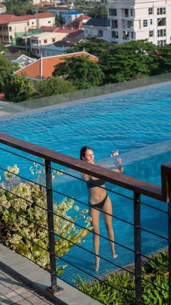 Rooftop Pool im Hotel Aquarius