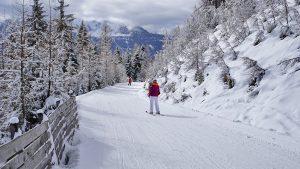 Eine Skipiste in Österreich