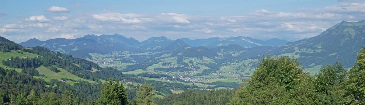 Vorarlberg Bergpanorama