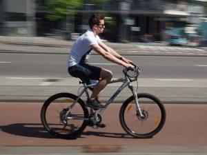 Fahrradfahrer in Stockholm